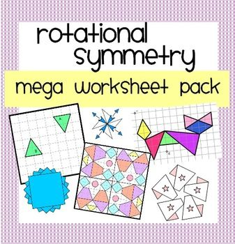 A collection of worksheets and activities on all rotational symmetry topics:  Rotation about a central point  Describing Rotations (direction, degree & centre) Rotational Symmetry Designs (Great Display Work) x 2  Rotational Symmetry Mystery Picture  Order of Rotational Symmetry Designs  Order of Rotational Symmetry: Quadrilaterals  Rotational Symmetry on a Co-ordinate Grid  Answers are included for each worksheet.