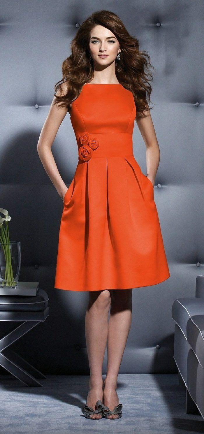 17 meilleures id es propos de robes orange sur pinterest for Robes de cocktail pour les mariages d automne