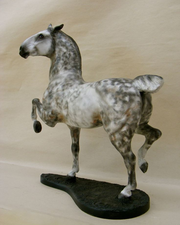 Breyer Custom/Cm HUNTER-JUMPER Dapple Grey Stallion w/base by PZ17 | eBay