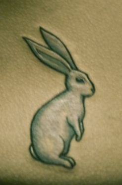 White rabbit tattoo from The Matrix.  I think I'm adding this to the list of tattoos I'm going to get.