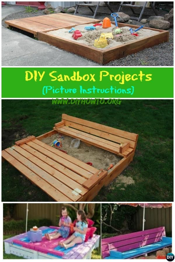 how to make a sandpit out of pallets