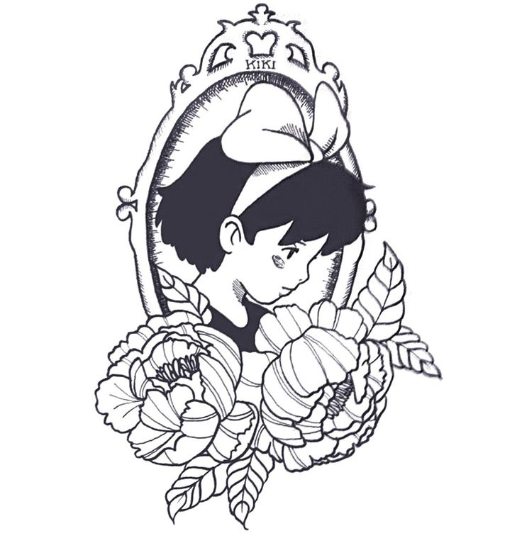 This is an image of Inventive Kiki's Delivery Service Coloring Pages