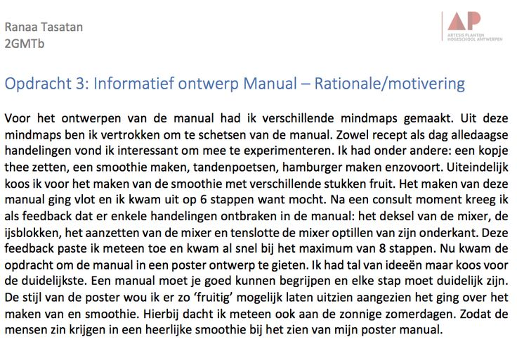 Rationale/motivering