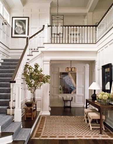 Beautiful entry. Nix the carpet on the stairs though.