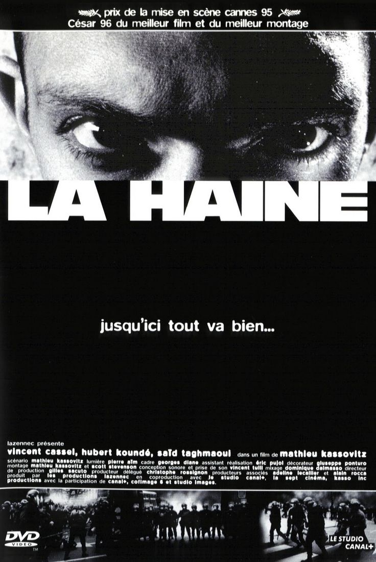La Haine. 1995. I watched this movie 4years ago in my french class. This is good movie for me. I thoguth too much after watching it. About people-oriented thing. Um..maybe that thing.