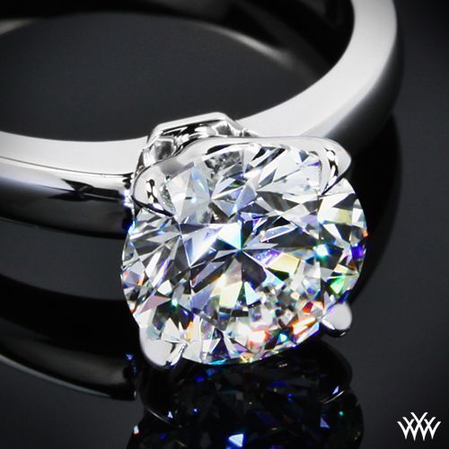 Hearts and Arrows Diamond  1.042ct A CUT ABOVE Diamond set in our Broadway Solitaire Engagement Ring Simply beautiful, the 'Broadway' Solitaire Engagement Ring is sure to steal the show. #diamondengagementring