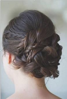 Bridal Updo with Braids - could work with the hair and bit still have done braids there