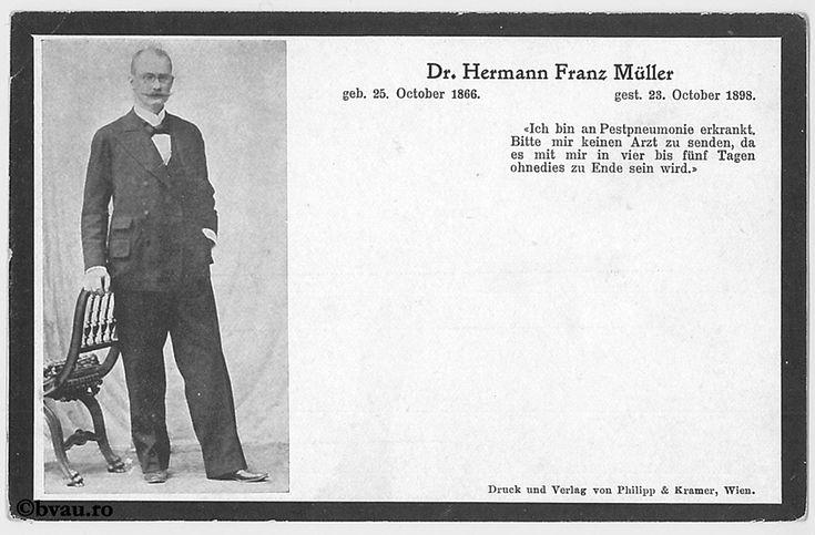 """Franz Müller, Viena, 1898. Imagine din colecțiile Bibliotecii """"V.A. Urechia"""" Galați."""