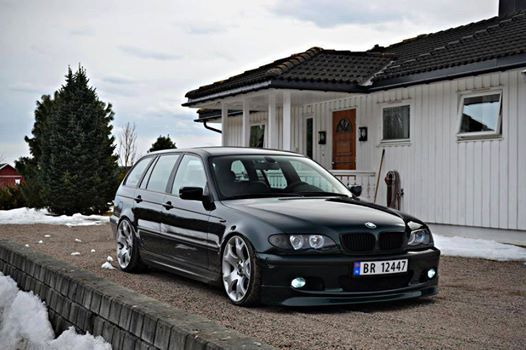 BMW E46 Touring black