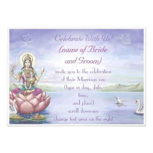 Hindu Wedding Invitations  Customize
