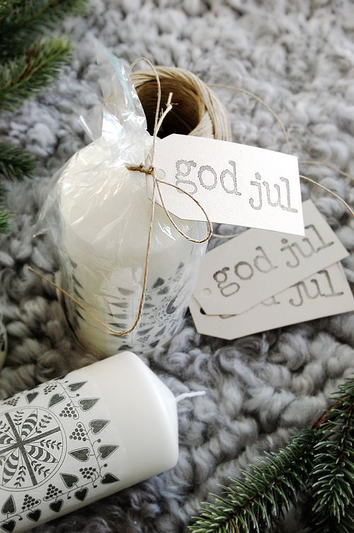 """God Jul"" is Norwegian and means ""Merry Christmas""."
