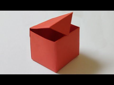 How to make a paper box that opens and closes - YouTube
