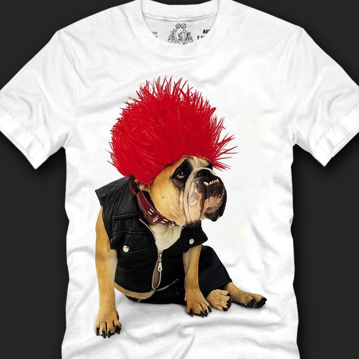 Men's T- shirts 100% Cotton Trendy Look Unique Fashion Style, punk bulldog copy #Koreanleadingfashiontrends #GraphicTee