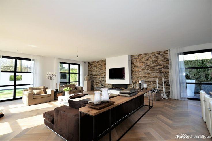 Steenstrips moderne woonkamer. | Schutsboom 33 | Pinterest | Searching