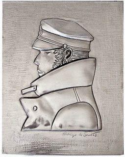 ArteyMetal: Placa Retrato Corto Maltés (Hugo Pratt)