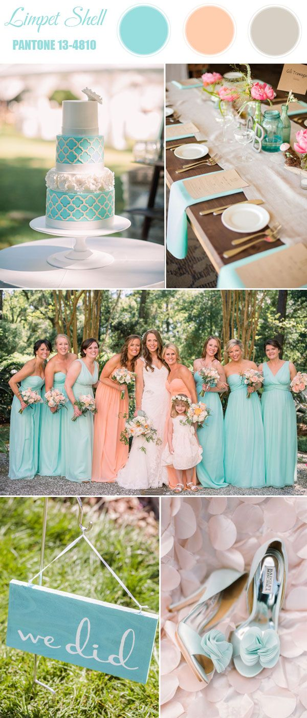 limpet shell light mint blue wedding color ideas for spring 2016
