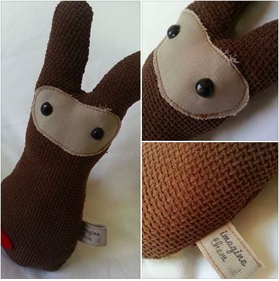 Handmade Brown Bunnies from our new Industrial Collection https://www.facebook.com/imaginethemtoyshop