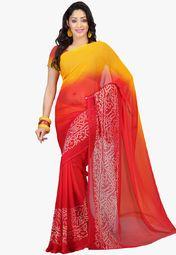 Admyrin Yellow Printed Saree Online Shopping Store