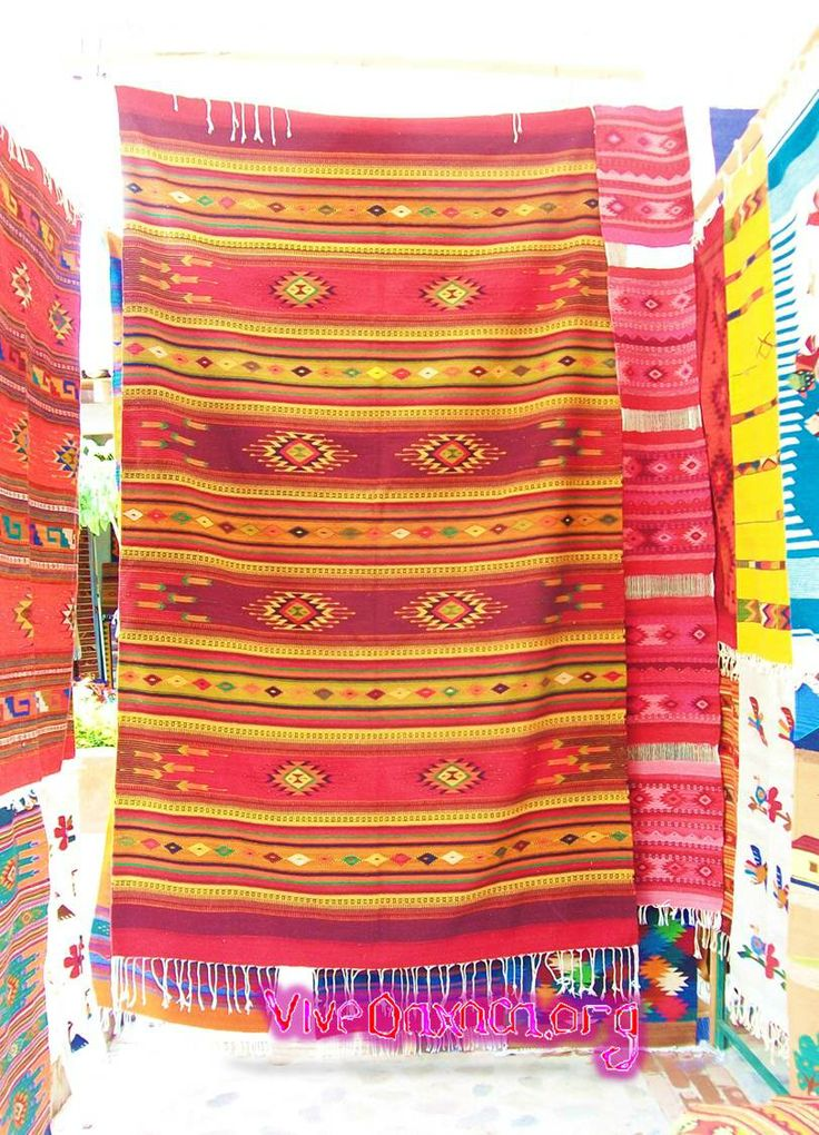 Mexican rugs from the state of Oaxaca.
