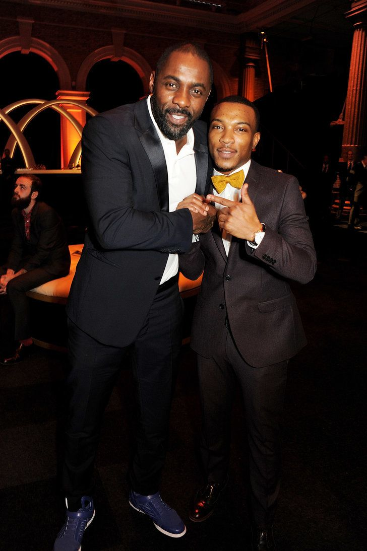 Idris Elba and Ashley Walters fooled around at the Moët British | 34 Pictures of Hot British Actors Being Hot Together | POPSUGAR Celebrity UK