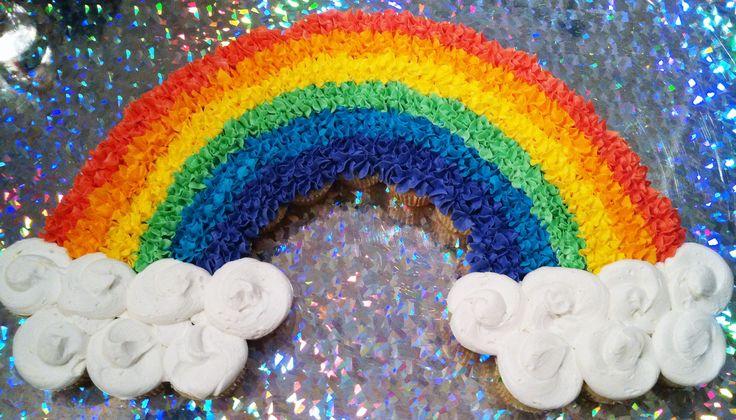 Rainbow Pull Apart Cupcake Cake