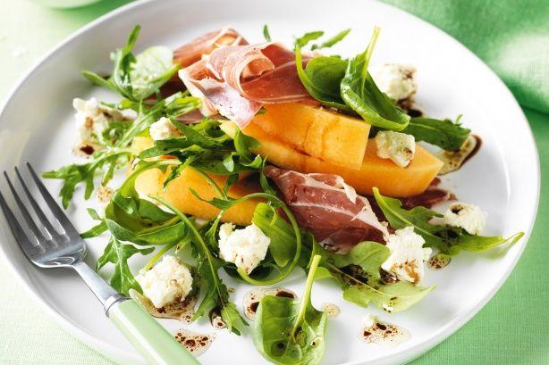 Rock melon and prosciutto salad
