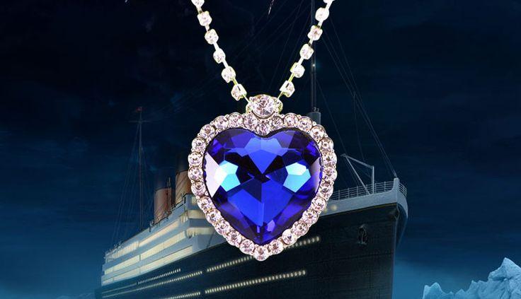 """""""Сердце океана"""" - стало символом красивой, яркой и искренней любви!  Сделайте незабываемый подарок своей возлюбленной, подарите ожерелье из фильма """"Титаник"""".  Пожалуй, нет девушки, которая бы не мечтала получить такой презент."""
