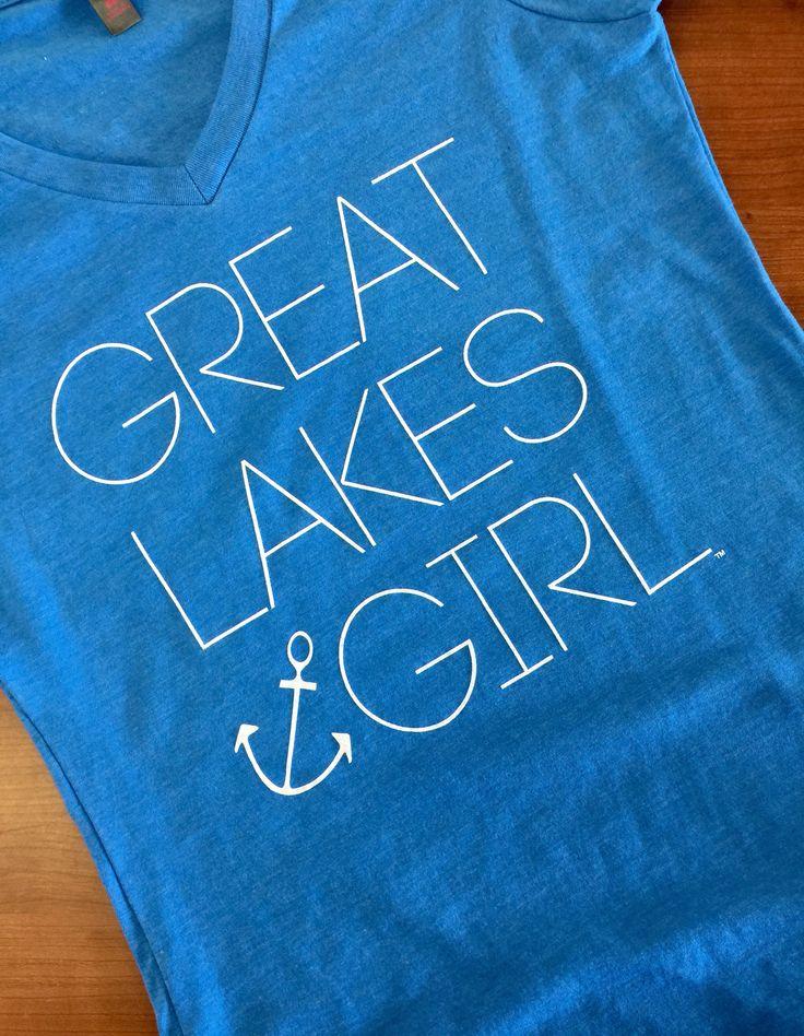 Great Lakes Girl V-Neck Tee Livnfresh.com