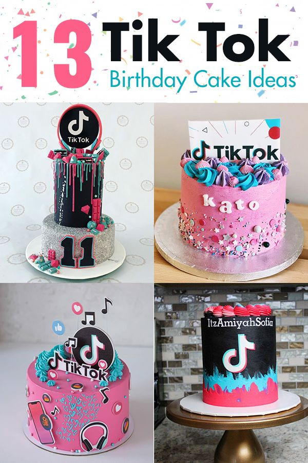 13 Cute Tik Tok Cake Ideas Some Are Absolutely Beautiful In 2020 14th Birthday Cakes Cool Birthday Cakes 13 Birthday Cake