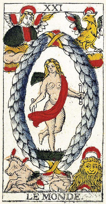Tarot de Marseille Heritage - Pierre Madenié, Dijon 1709 - Le Monde