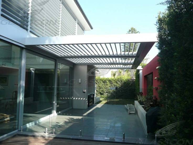 glasscon retractable louvered roof system for atriums patios pergolas opening waterproof