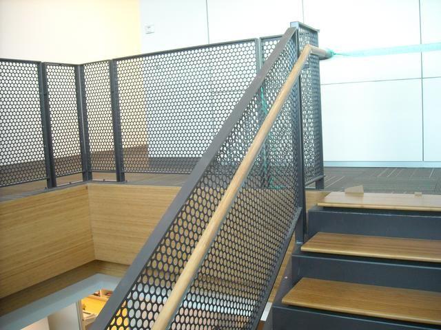 white metal stair railing - Google Search
