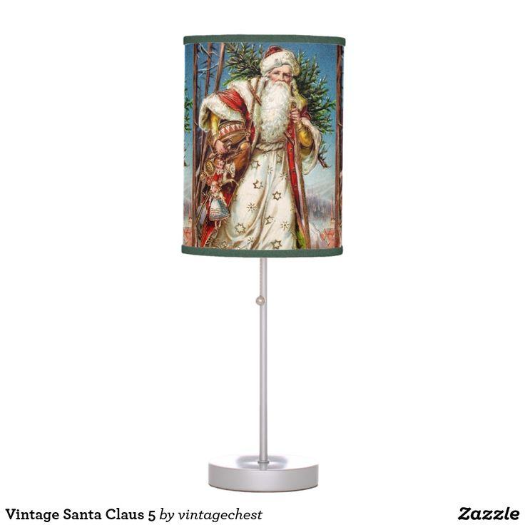Vintage Santa Claus 5 Table Lamp