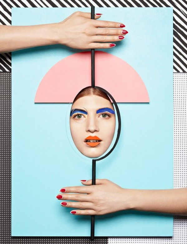 Anna Lomax for Wonderland | Trendland: This reminded me of Oskar Schlemmer's Triadic Ballet Costumes, which I then proceeded to pin afterwards. I think this is a very graphic reinterpretation, while it maintains some Bauhaus-like shapes. Simply, it's pretty and sharp. The boldness and the fun use of colors really make it 'pop'.