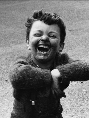 Filthy Young Boy with Broad Grin - Manchester, 1968 Photographic Print by Shirley Baker at AllPosters.com