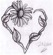 Heart  Daisy Tattoo - Bing Images