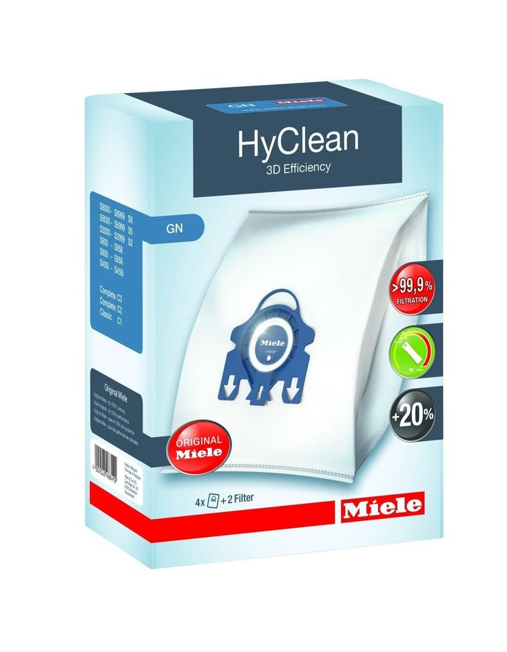Genuine Miele HyClean 3D Efficiency GN dust bag pack (4 dust bags + 2 filters) #Miele #HyClean #DustBag #AtlanticElectrics