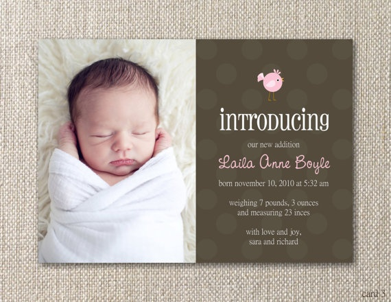 17 Best images about Birth Announcements – Baby Birth Announcement Quotes