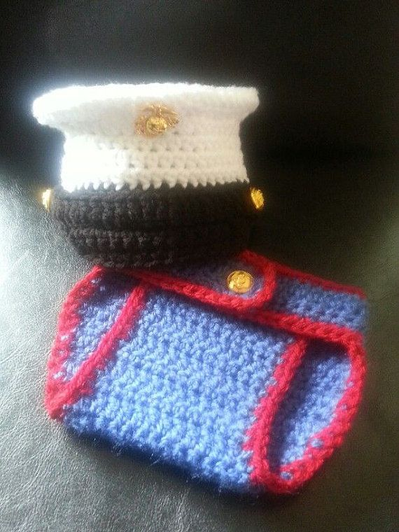 Crochet Baby Marine Hat Pattern : 17 Best images about Crochet baby uniforms on Pinterest ...