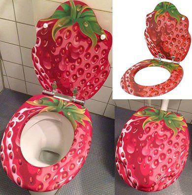 WC Sitz mit Absenkautomatik, viele schöne WC Sitze zur Auswahl, hochwertige und stabile Qualität aus Holz (Strawberry)