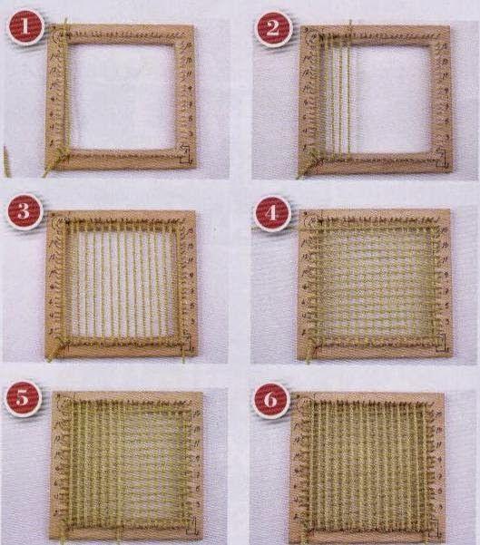 Teje la urdimbre para cualquier puntada del telar bastidor, y la trama para la puntada base o tejida, las cuales se hacen igual en cualquier...