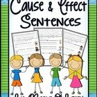 Cause and Effect Sentences.