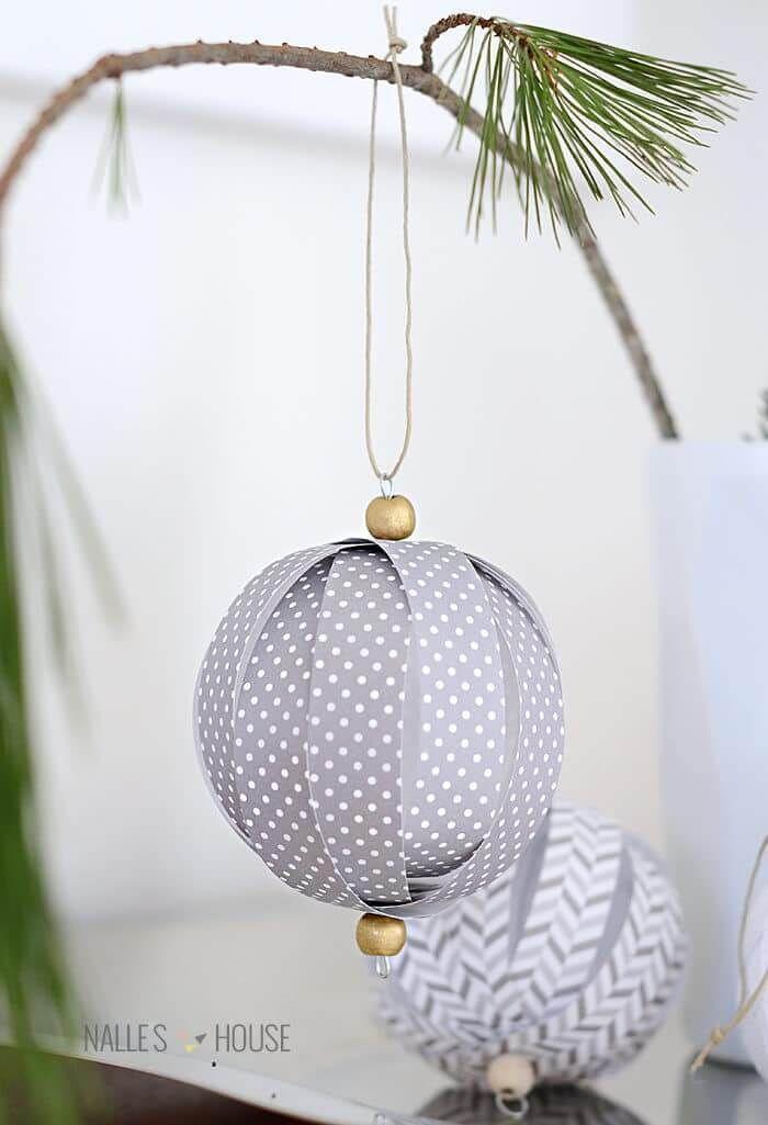 Wundervolle DIY Weihnachtsbaum-Schmuck Ideen aus Papier