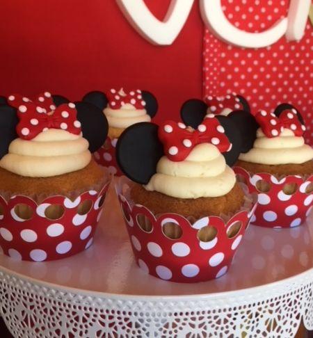 Minnie Mouse Cupcakes  Violeta Glace