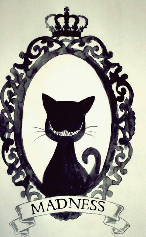 """We're all mad here"" Cheshire Cat | by shyyboyy | #ilustração #illustration…"