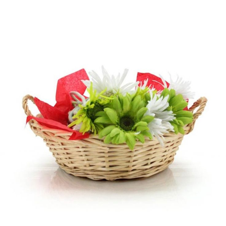 Round Willow Tray w/Handle 26x32x8Hcm (10-BAS-002-143) | Oceans specialises in the development and wholesale distribution of creative floral and gift presentation solutions. Through providing outstanding customer service, and maintaining superior delivery standards, Oceans has a well-earned reputation as market leaders in New Zealand's floral and gift packaging industry. Wedding, Wedding DIY, Favour, gifts,Christmas,