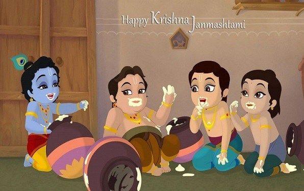 Happy #Krishna #Janmashtami Quote, Slogan, SMS, Messages, FB & Whatsapp Status #HappyJanmashtami
