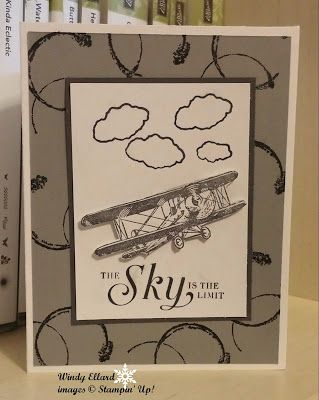 Windy's Wonderful Creations, Stampin' Up!, Sky Is The Limit, Timeless Textures