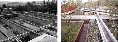 Before and After. West Seoul lake park. Ctopos. Seoul #architecture