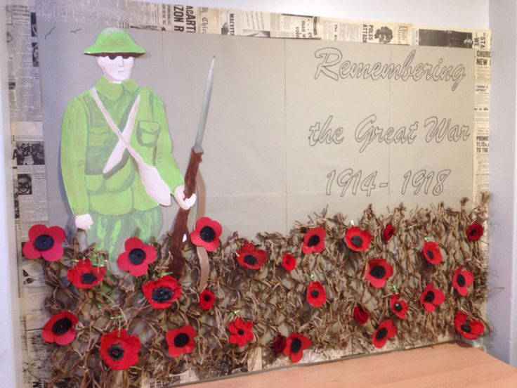 'Remembering World War One' Classroom Display